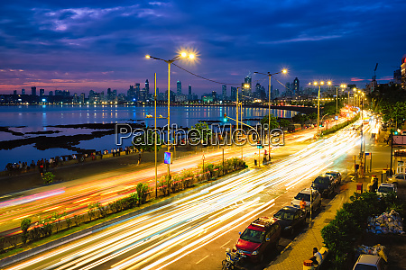 marine drive in the night with