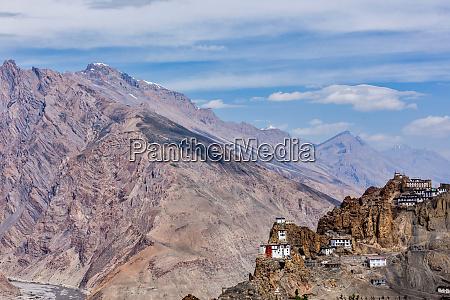 dhankar gompa buddhist monastery on a
