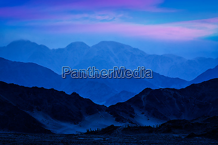 himalayas mountains in twilight