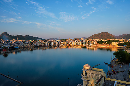 view of famous indian sacred city
