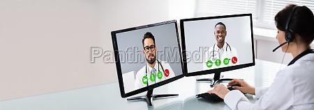 laege bruger online elearning video konference