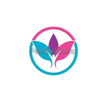 sundt liv medicinsk logo skabelon vektor