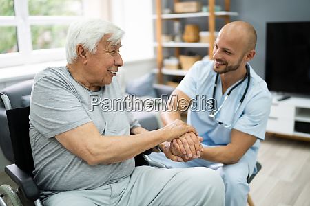 sundhedspleje patient bedrift hand