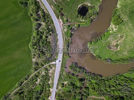 rusland moskva oblast luftfoto af motorvejen