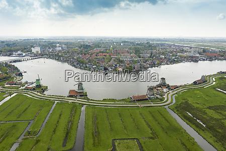 holland nordholland zaandam luftfoto af historiske