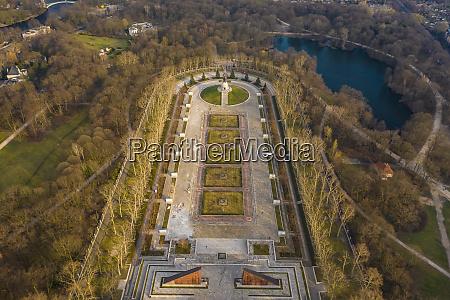 tyskland berlin luftfoto af treptower park
