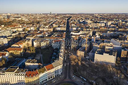 tyskland berlin luftfoto af kreuzberg distriktet