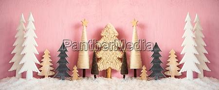 banner juletraeer sne grungy pink baggrund