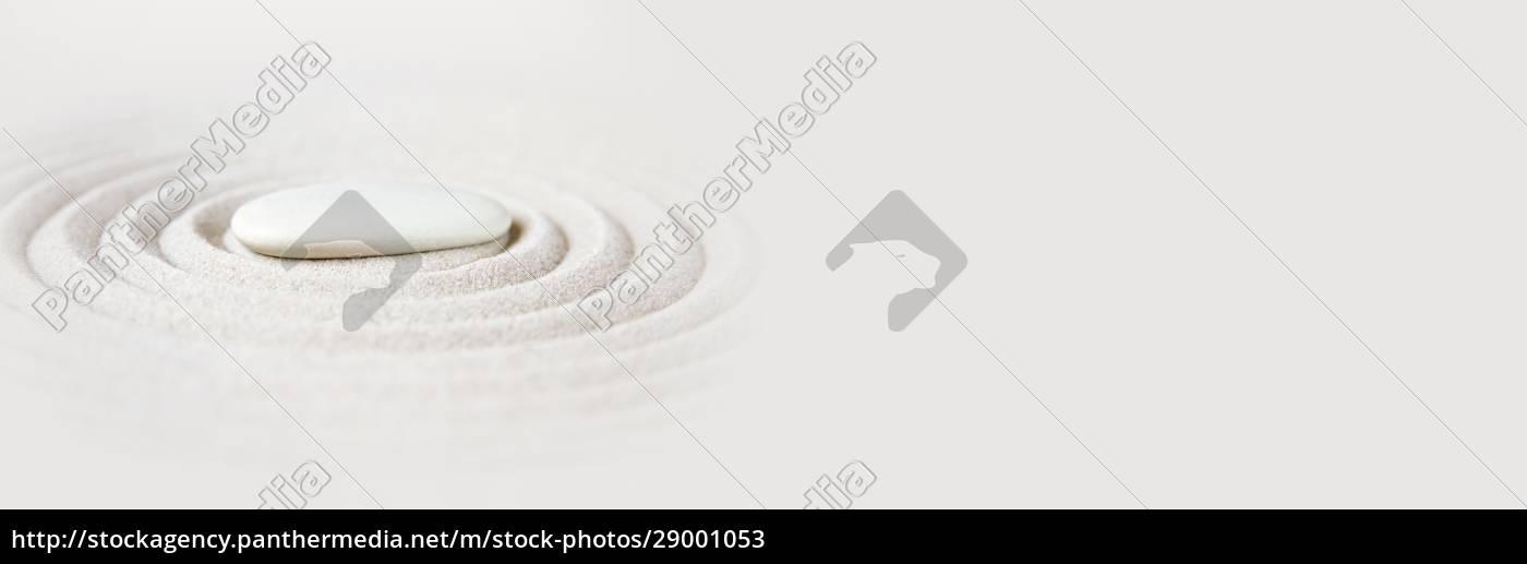 zen, japansk, have, baggrund., vandret, banner - 29001053