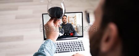 online virtuel vin drikke fest