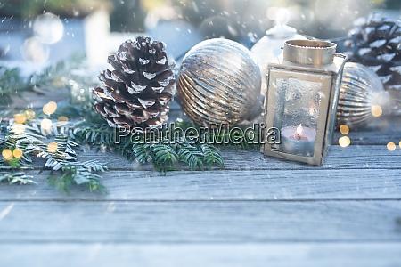 juledekoration, med, snefnug - 29005353