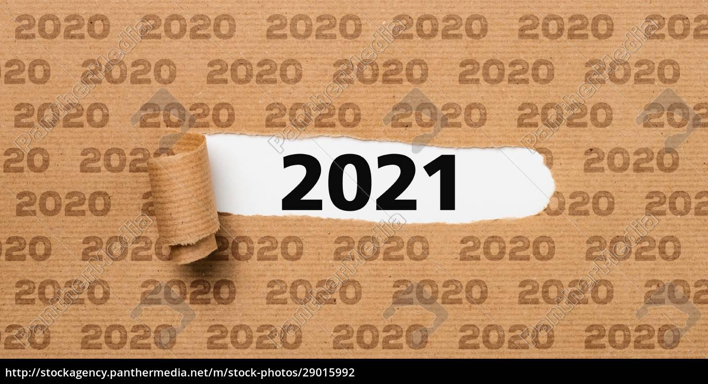 revet, papir, afslører, antallet, 2021 - 29015992