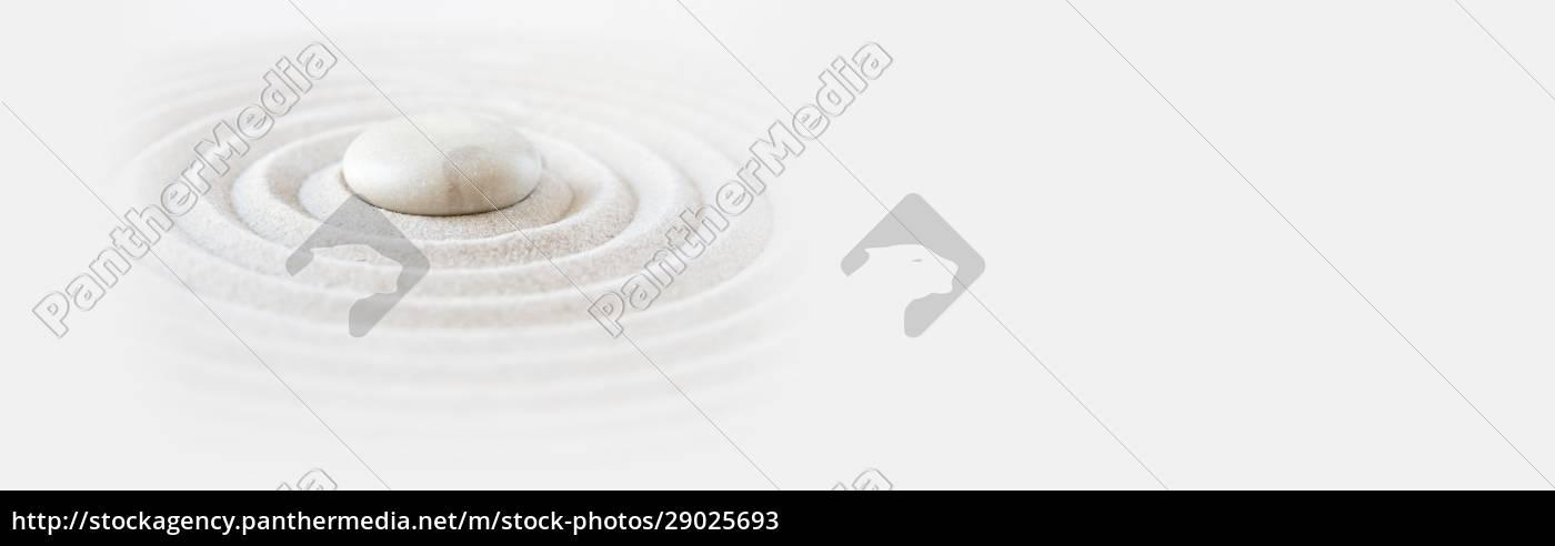 zen, japansk, have, baggrund., vandret, banner - 29025693