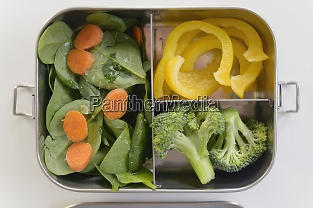 friske grontsager i madkasse
