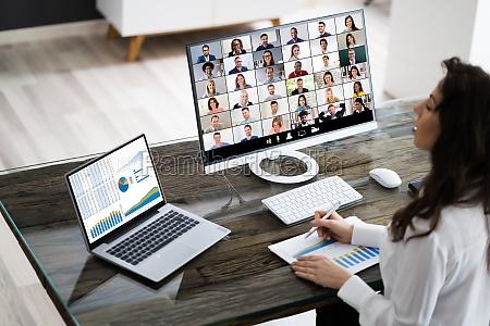 online videokonferenceopkald