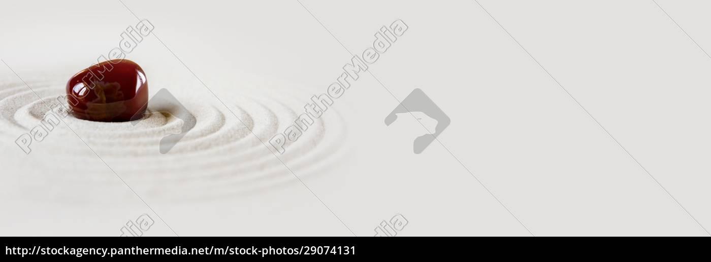 zen, japansk, have, baggrund., vandret, banner - 29074131
