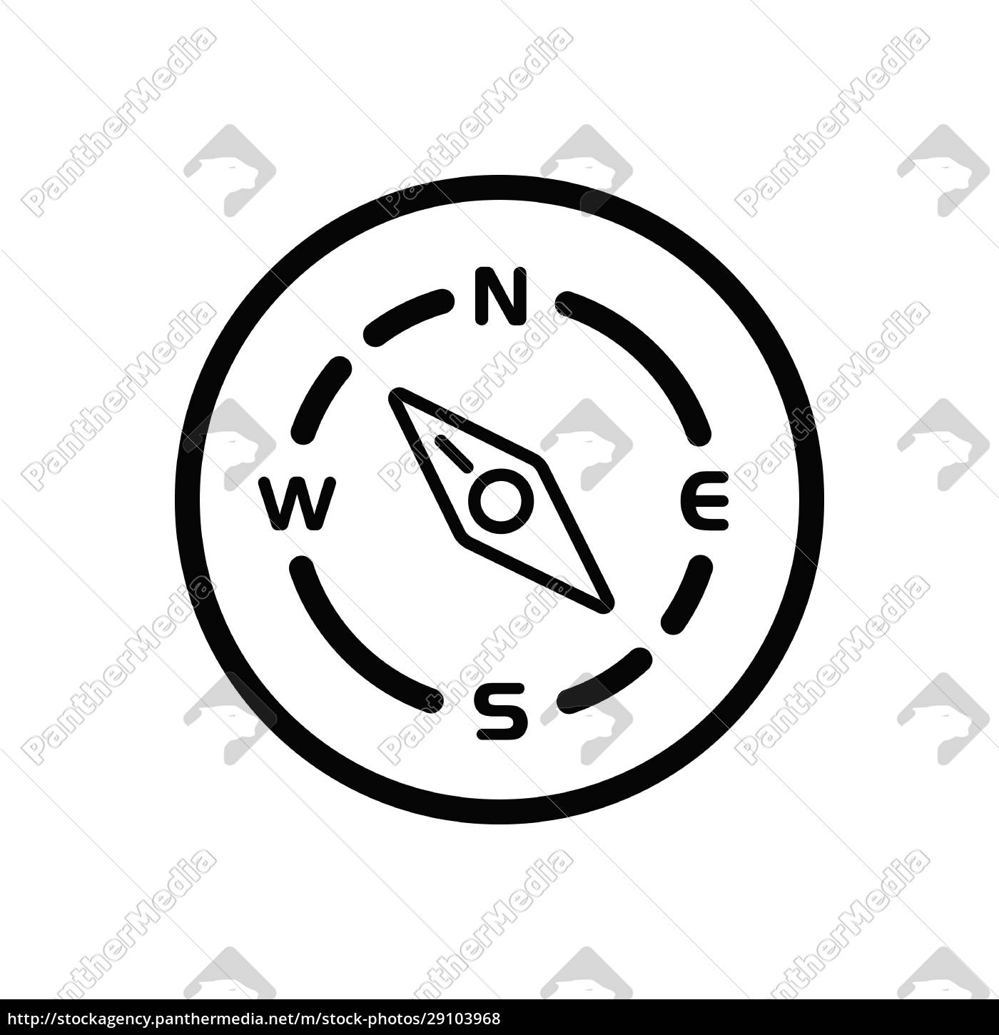 compass., north, west, direction., weather, icon - 29103968