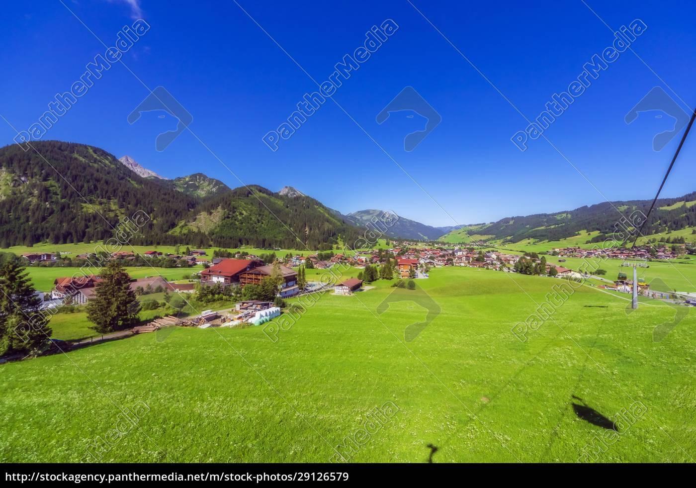 Østrig, tyrol, landlig, landsby, i, tannheimer, tal, om - 29126579