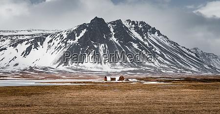 fantastisk vinterudsigt pa det hoje bjerg