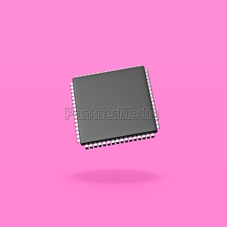 electronic, microchip, on, purple, background - 29646235