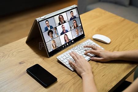 webinar til digital onlinevideokonference