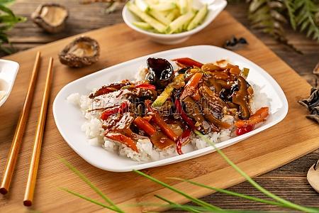 vegetarisk kinesisk mad