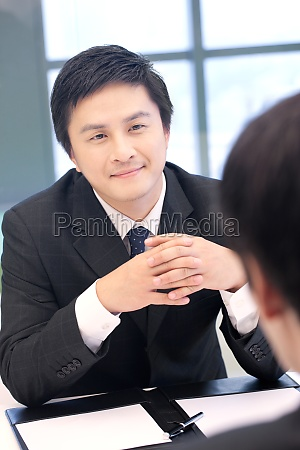 business people interview