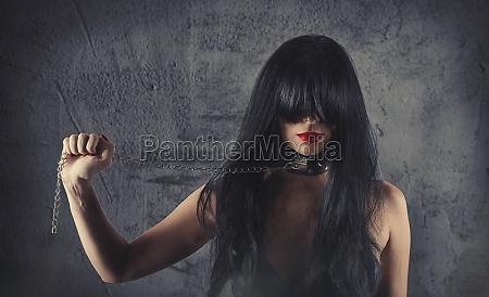 sensuel provokation af en sexet bdsm