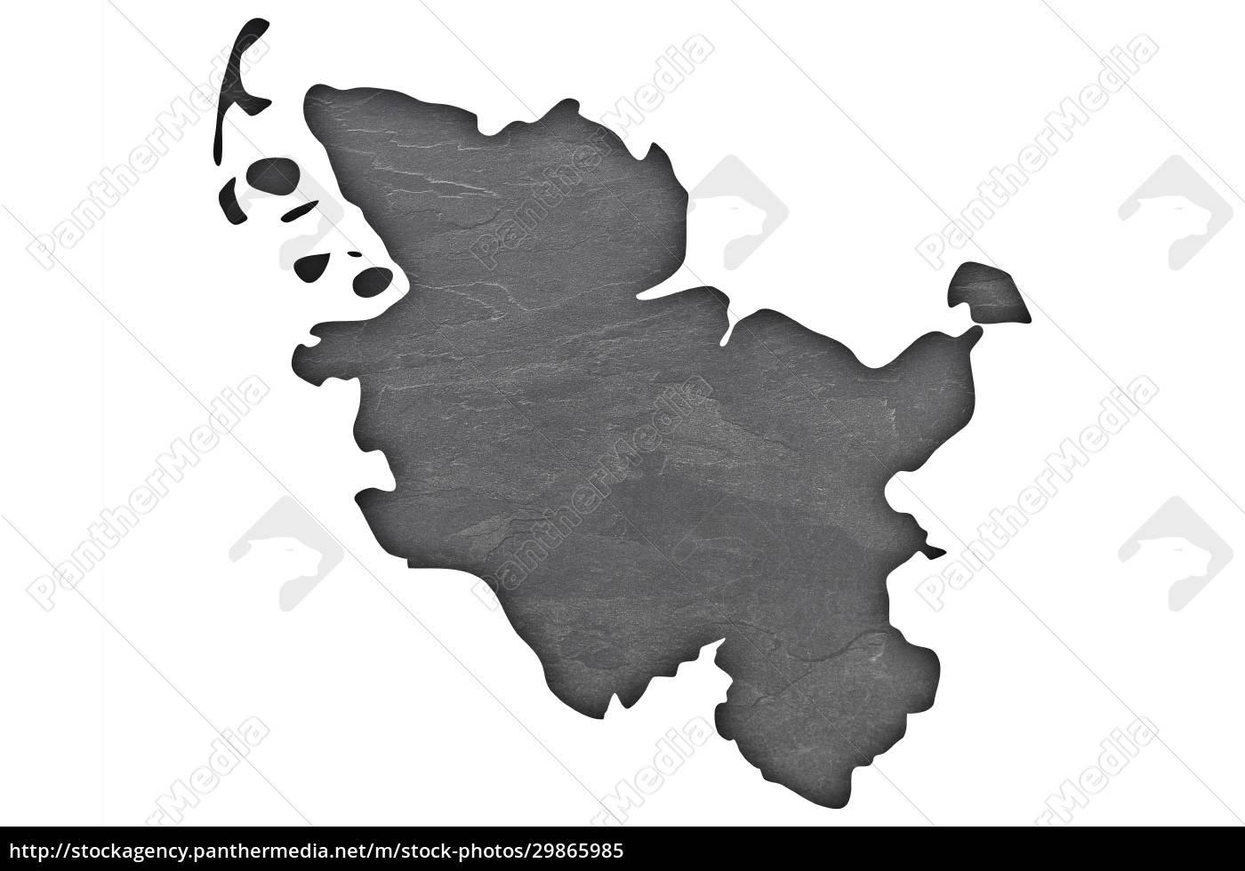 map, of, schleswig-holstein, on, dark, slate - 29865985
