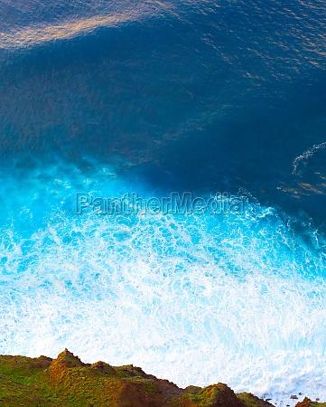 havbaggrund med luftfoto