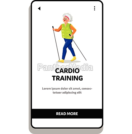 cardio traening udover old lady atlet