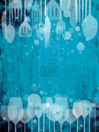 bar, pub, entertainment, blue, background, colorful - B12097138
