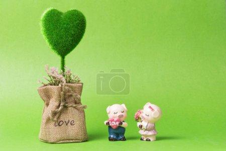 grøn, farve, baggrund, close-up, fotografering, lille - B256144428