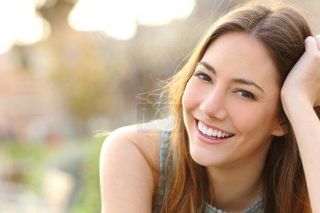 white, background, beautiful, happy, girl, female - B73762843