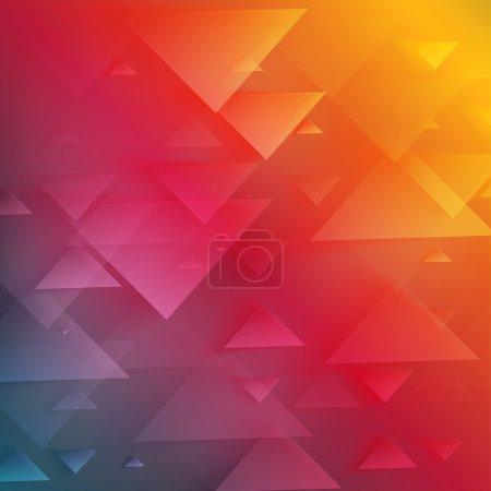 farve, rød, trekant, gul, hvid, vektor - B70657701